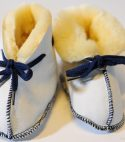 Baby Lammfellschuhe | blau